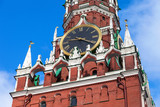 Chimes clock on Spasskaya tower of the Moscow Kremlin poster