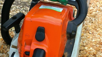 Starting a Chainsaw