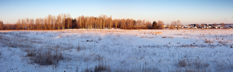 Rural panorama in winter