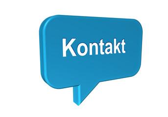 Sprechblase mit Kontakt, Button für Website