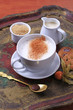 Hot milk with nutmeg