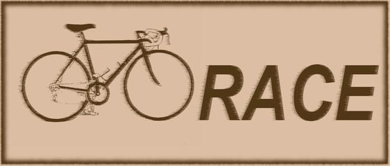 Bike race vintage