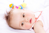 Baby. Cute Baby Girl Portrait