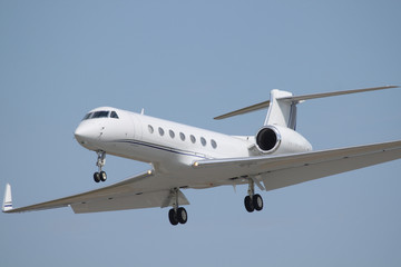 white business jet