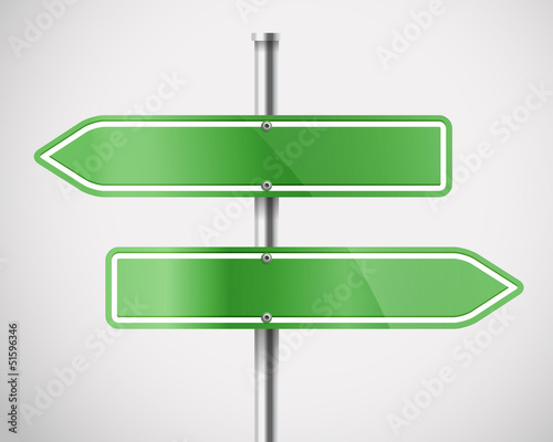 Blank green metal arrow boards
