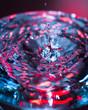 Gota de agua de colores
