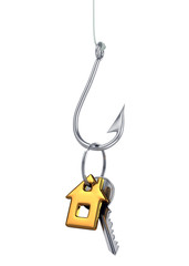 Fish Hook Baited with House Key