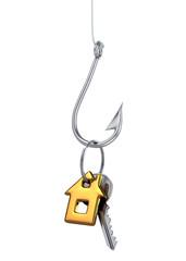 Fish Hook Baited with House Key