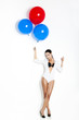 Fashion woman with ballons