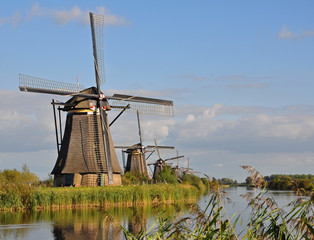 Windmill park Kinderdijk, Holland