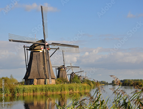 Windmill park Kinderdijk, Holland