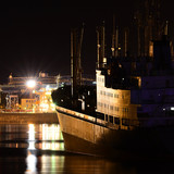 Venspils cargo port by night