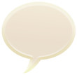 3d white speech bubble illustration