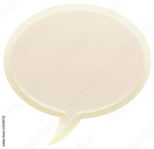 3d white speech bubble illustration