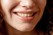 Close up shoot of young girl: Smiling Lips.