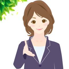 握手 女性 様々な表情 オフィスシーン Woman Guide