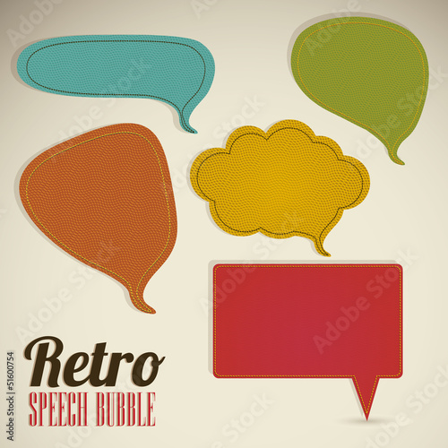 retro text balloons