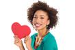 Woman Holding Heart Shape