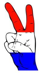 Peace Sign of the Dutch flag