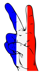Peace Sign of the French flag
