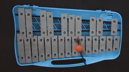 Glockenspiel. Overhead shot.