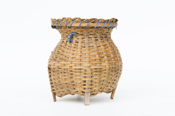 'creel'bamboo container for caught fish, a fishtrap