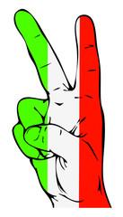 Peace Sign of the Italian flag