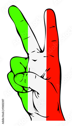 Peace Sign of the Italian flag
