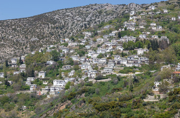 View of the picturesque village of Makrinitsa, Pelio, Greece