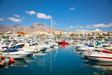 Canary Charter Yacht Club in Costa Adeje, Tenerife, Spain.