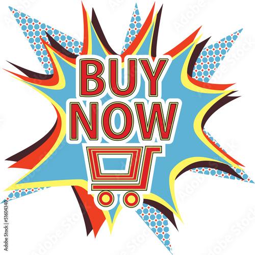 Buy now vector sign