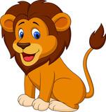 Fototapety Funny lion cartoon