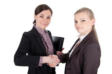 Handschlag unter Geschäftsfrauen