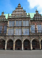 Famous town hall of Bremen, Germany