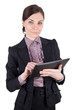 Geschäftsfrau mit Tablet-Pc