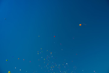 baloons in the blue sky
