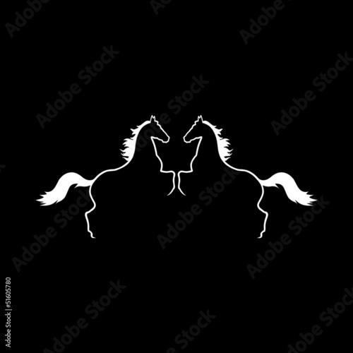 Two Horses Vector