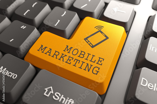 Mobile Marketing Button.