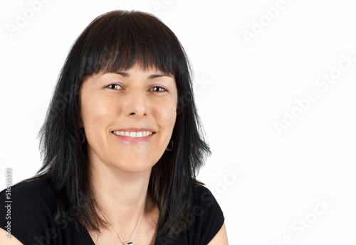 Middle age woman with big smile
