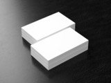 Business cards blank mockup poster