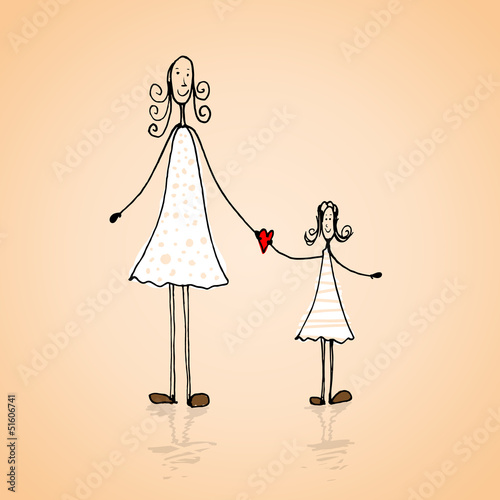 Mothers day illustration