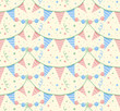 Party garlands seamless pattern
