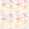 Beautiful gradient seamless pattern with lily