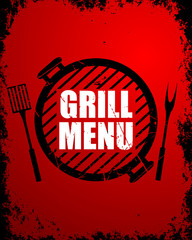 Vector Illustration of a Grill Menu Design Template