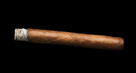 Studio shot cigar black isolated