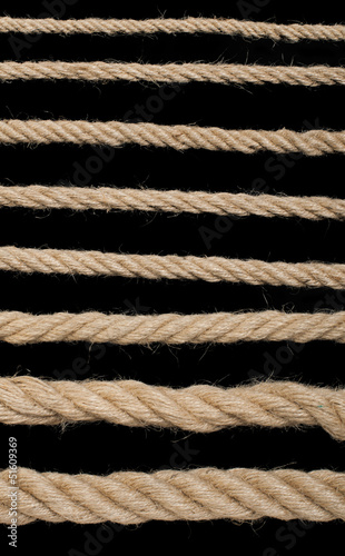 Close up hemp rope
