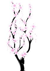 ramo con fiorellini rosa