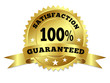 Gold Badge Satisfaction Guaranteed With Ribbon - 51610329