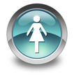 "Light Blue Glossy Pictogram ""Ladies Restroom"""