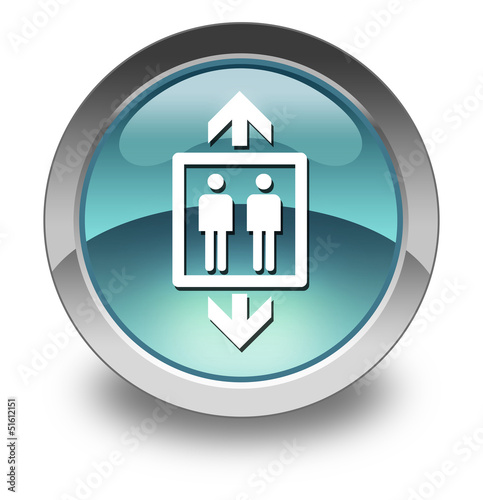 "Light Blue Glossy Pictogram ""Elevator / Lift"""